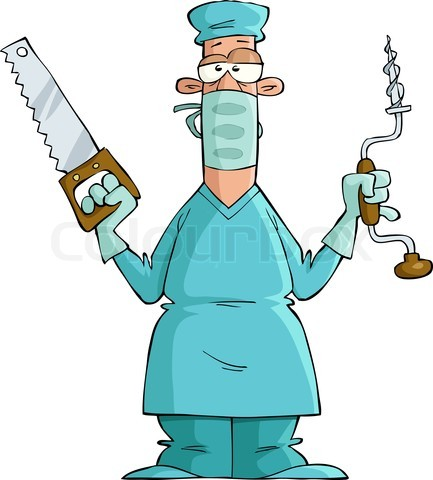 Cartoon surgeon